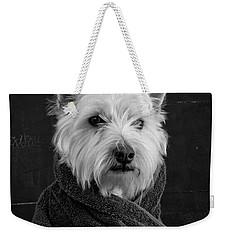 Portrait Of A Westie Dog Weekender Tote Bag by Edward Fielding