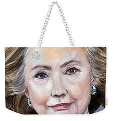 Pastel Portrait Of Hillary Clinton Weekender Tote Bag by Greta Corens