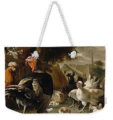 Poultry Yard Weekender Tote Bag by Melchior de Hondecoeter