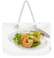 Prawn Appetizer Weekender Tote Bag by Amanda Elwell