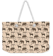 Prehistoric Animals Weekender Tote Bag by Antique Images