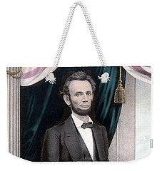 President Abraham Lincoln In Color Weekender Tote Bag by War Is Hell Store
