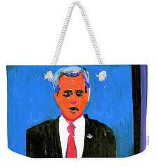 President George Bush Debate 2004 Weekender Tote Bag by Candace Lovely