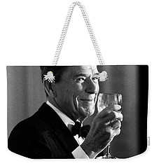 President Reagan Making A Toast Weekender Tote Bag by War Is Hell Store