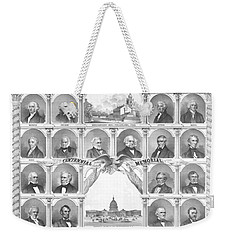 Presidents Of The United States 1776-1876 Weekender Tote Bag by War Is Hell Store