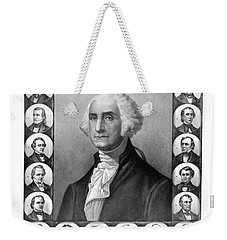 Presidents Of The United States 1789-1889 Weekender Tote Bag by War Is Hell Store