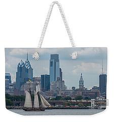 Pride Of Baltimore II Philadelphia Skyline Weekender Tote Bag by Terry DeLuco