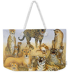 The Big Cats Weekender Tote Bag by Pat Scott