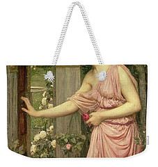 Psyche Entering Cupid's Garden Weekender Tote Bag by John William Waterhouse