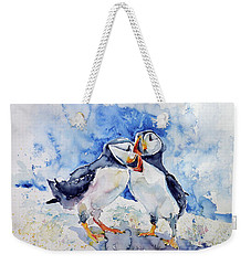 Puffins Weekender Tote Bag by Kovacs Anna Brigitta