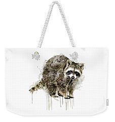 Raccoon Weekender Tote Bag by Marian Voicu