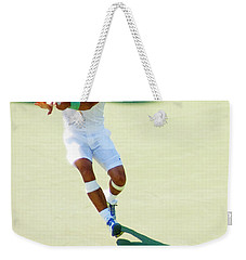 Rafael Nadal Shadow Play Weekender Tote Bag by Steven Sparks