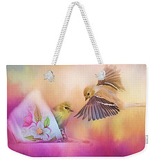 Raiding The Teacup - Songbird Art Weekender Tote Bag by Jai Johnson