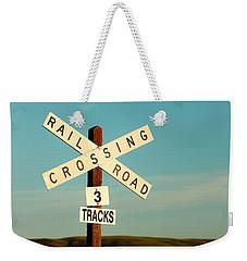 Railroad Crossing Weekender Tote Bag by Todd Klassy
