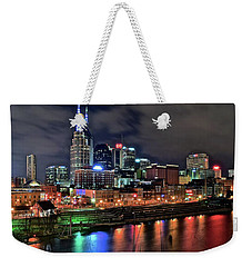 Rainbow On The River Weekender Tote Bag by Frozen in Time Fine Art Photography