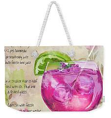 Rasmopolitan Mixed Cocktail Recipe Sign Weekender Tote Bag by Mindy Sommers