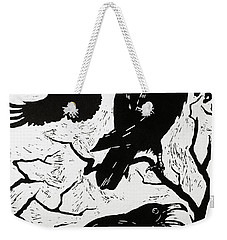 Ravens Weekender Tote Bag by Nat Morley