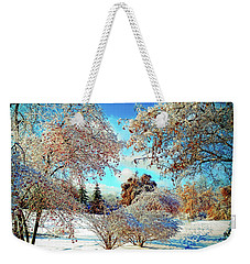 Weekender Tote Bag featuring the photograph Realm Of The Ice Queen by Rodney Campbell