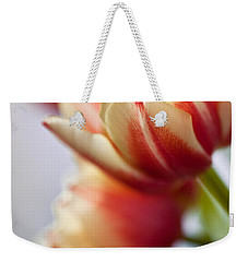 Red And White Tulips Weekender Tote Bag by Nailia Schwarz