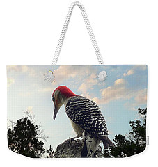 Red-bellied Woodpecker - Tree Top Weekender Tote Bag by Al Powell Photography USA