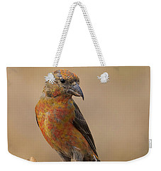 Red Crossbill Weekender Tote Bag by Doug Herr