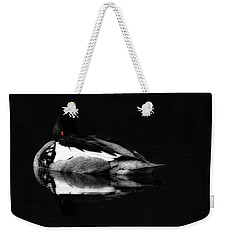 Red Eye Weekender Tote Bag by Lori Deiter