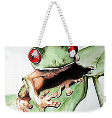 Red Eyes Weekender Tote Bag by Ilaria Andreucci