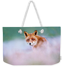 Red Fox In A Mysterious World Weekender Tote Bag by Roeselien Raimond