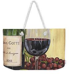 Red Wine And Pear 2 Weekender Tote Bag by Debbie DeWitt