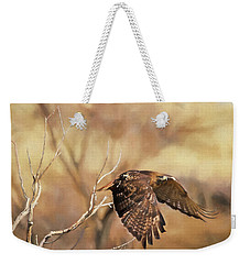 Redtail On The Move Weekender Tote Bag by Donna Kennedy
