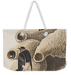 Republican Or Cliff Swallow Weekender Tote Bag by John James Audubon