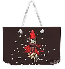 Retro Cosmic Adventure Weekender Tote Bag by Jorgo Photography - Wall Art Gallery