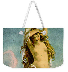 Retro Tobacco Label 1875 Weekender Tote Bag by Padre Art