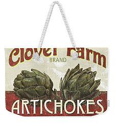 Retro Veggie Labels 1 Weekender Tote Bag by Debbie DeWitt