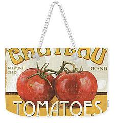 Retro Veggie Labels 4 Weekender Tote Bag by Debbie DeWitt