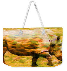 Rhinocerace Weekender Tote Bag by Caito Junqueira