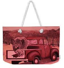 Ridin' With Razorbacks 3 Weekender Tote Bag by Belinda Nagy