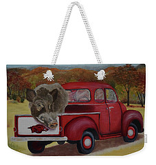 Ridin' With Razorbacks Weekender Tote Bag by Belinda Nagy