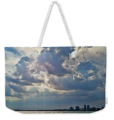Riding In The Storm Weekender Tote Bag by Camille Lopez