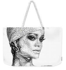 Rihanna Weekender Tote Bag by Rafael Salazar