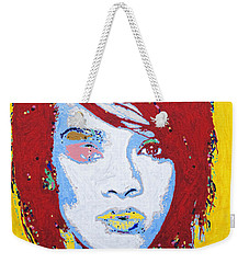 Rihanna  Weekender Tote Bag by Stormm Bradshaw