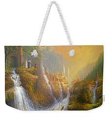 Rivendell Wisdom Of The Elves. Weekender Tote Bag by Joe  Gilronan