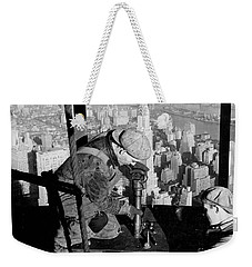 Riveters On The Empire State Building Weekender Tote Bag by LW Hine