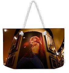 Robert Plant At The Hard Rock Weekender Tote Bag by David Lee Thompson