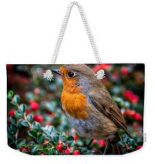 Robin Redbreast Weekender Tote Bag by Adrian Evans