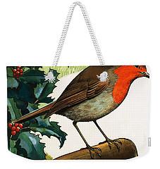 Robin Redbreast Weekender Tote Bag by English School