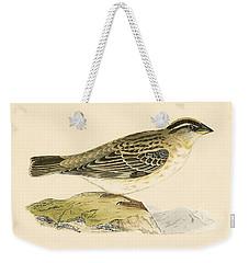 Rock Sparrow Weekender Tote Bag by English School
