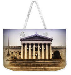 Rocky On The Art Museum Steps Weekender Tote Bag by Bill Cannon
