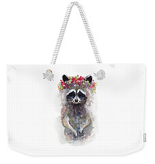 Rocky Raccoon Weekender Tote Bag by Stephie Jones