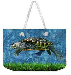 Rodney The Diamondback Terrapin Turtle Weekender Tote Bag by Sandi OReilly